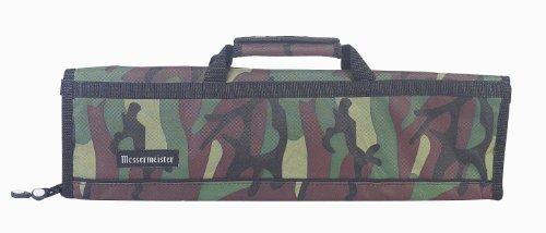 Messermeister 8-Pocket Padded Knife Roll, Camouflage