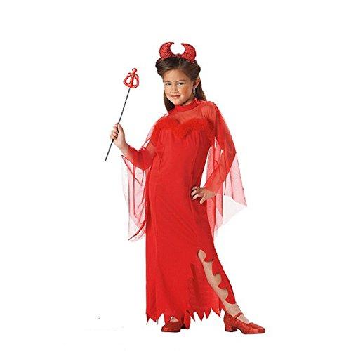 [California Costumes Red Devil Girl Girls Dress-Up Medium 8-10 Costume, Black/Pink] (Girl Devil Costumes)