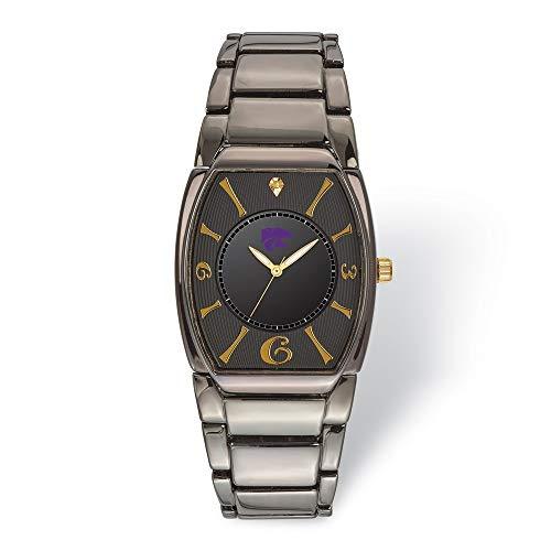 (Jewels By Lux LogoArt Kansas State University Executive Black-Plated Watch)