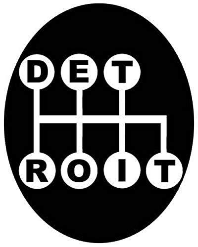 Detroit Michigan Vintage Travel Decal Sticker Souvenir