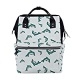 Vintage Miami Dolphin Leisure College Backpack Light Travel Male and Female Student Backpack Lightweight Canvas Backpack Medium Handbag Fashion Style Multifunction