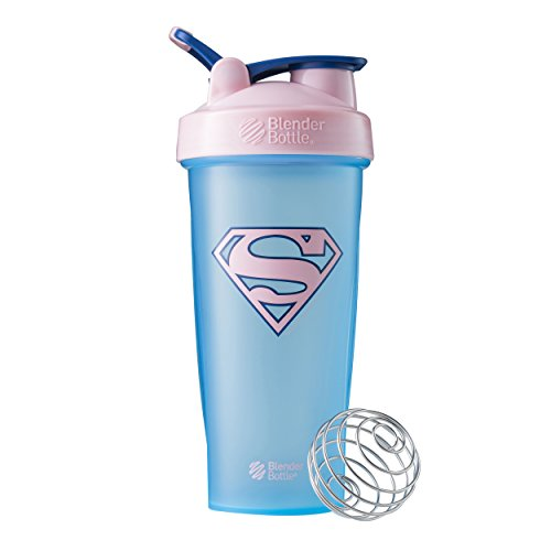 (BlenderBottle Justice League Superhero Classic 28-Ounce Shaker Bottle, Supergirl)