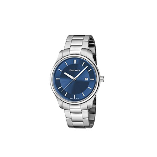 Wenger-Mens-City-Classic-Swiss-Quartz-Stainless-Steel-Casual-Watch-ColorSilver-Toned-Model-011421106