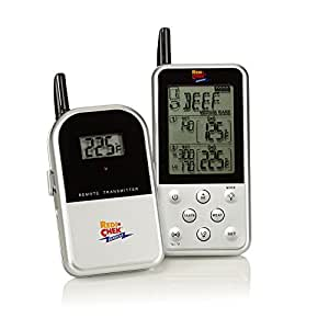 Maverick Industries Long Range Wireless Dual Probe Barbecue Smoker Meat Thermometer Set - Newest Version with a Larger Display and Added Features (Et-733) Silver