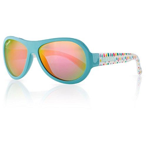 SHADEZ Kids Flex Frame Designer Aviator Sunglasses -Ice Cream, Teal, 3-7 Years - 100% UV Protection for Baby, Children and Teens (Ice Sonnenbrillen)