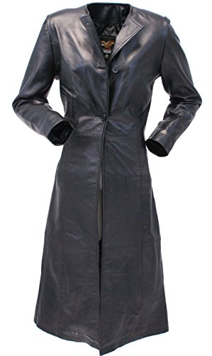Jamin' Leather Extra Long Lambskin Leather Trench Coat for Women #L14020LL