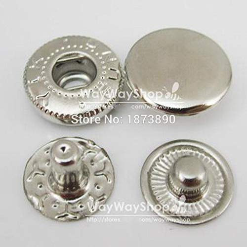 Leather Rivets Set 500 Sets 10mm 3/8'' Rapid Rivet Button Snaps Fasteners for Leather Craft 5 Color Choice 4in1 by X-CRAFT (Image #4)