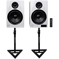 Rockville HTS8W 8 1000W Active Home Theater Speakers w/Bluetooth/FM/USB+Stands