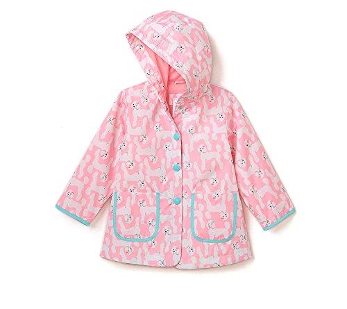 (Carter's Girls' 2T-6X Light Weight Pink Poodles Jacket 4T)