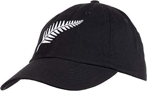 New Zealand Pride | Kiwi Silver Fern Southern Cross Black Baseball Cap Dad Hat-(Dad Hat)