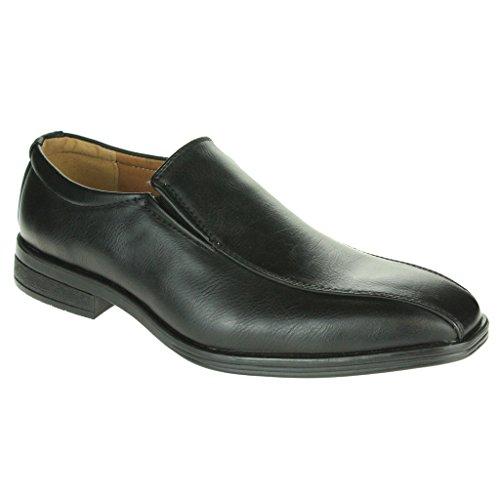 Herren Gents Schlüpfen Halbschuhe Intelliget Komfort Formell Büro Arbeit Mode leichte Schuhe Größe Schwarz