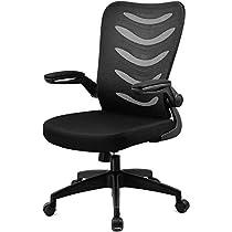 GTXMAN デスクチェア メッシュ 椅子 ハイバック パソコンチェア 事務用椅子 跳ね上げ式アームレス...