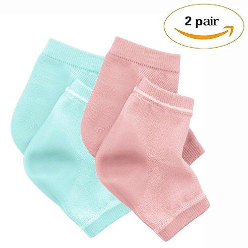 75711da3b PrettyDate 2 Pair Spa Moisturising Silicone Gel Heel Socks for Dry Hard  Cracked Skin Moisturizing Open