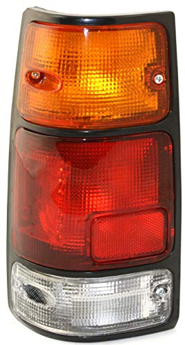 Tail Light Assembly Compatible with 1991-1997 Isuzu Rodeo with Black Trim Driver Side