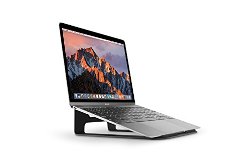 Twelve South ParcSlope for MacBook and iPad Pro, black | Hybrid laptop stand and tablet desktop wedge