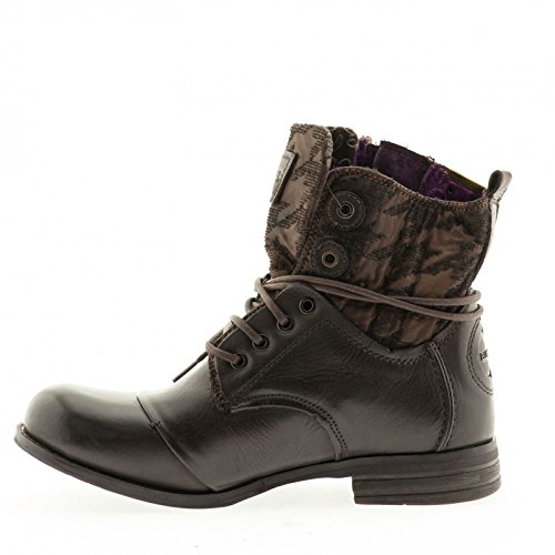 BUNKER - ZIP -B28- Damen Ankle BOOT Stiefelette smoky