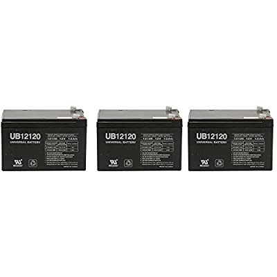 12V 12Ah Replacement Battery for Razor MX 650 Dirt Rocket # 1516507 - 3 Pack