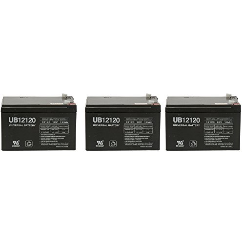 Price comparison product image BATTERY REPLACEMENT for POWER-SONIC PS-12120F2 PS-12120 F2,12V 12AH EA. - 3 Pack
