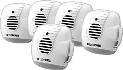 Bell & Howell Ultrasonic Pest Repeller with Nightlight Rodent Control 5 pack