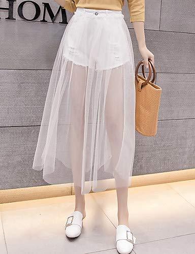 Tinta Larghi Yfltz Da Unita White Jeans Donna Pantaloni 4qxPOwg