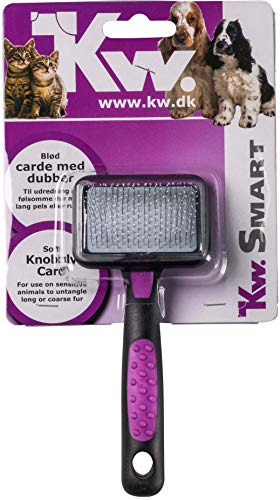KW Smart Extra Long Soft Grooming Slicker Brush for Dogs and Cats Small