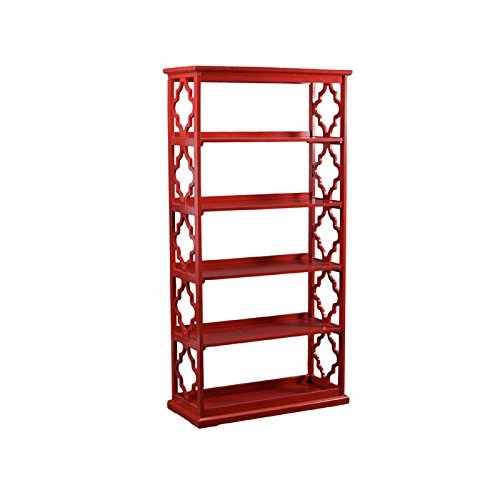 Powell 14A8082BCR Turner, Red Bookcase,