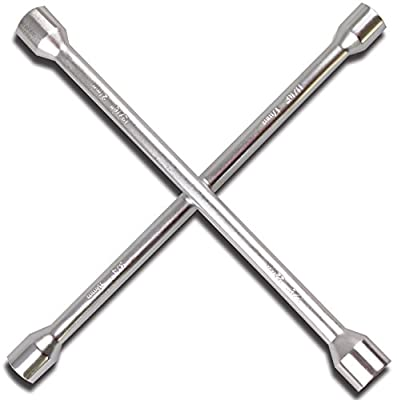 "CARTMAN 14"" Heavy Duty Universal Lug Wrench, 4-Way Cross Wrench by CARTMAN"