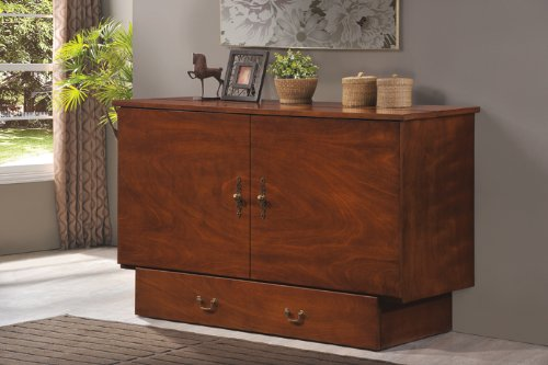 amazoncom arason enterprises credenzzz cabinet bed in traditional pekoe queen size kitchen u0026 dining