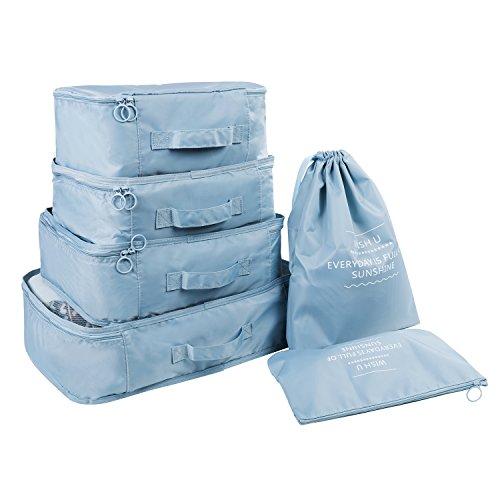 RYOMI Packing Cubes 6 Set Travel Luggage Organi...