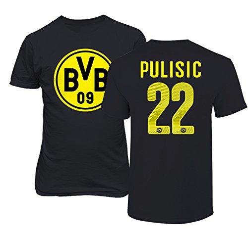Borussia Dortmund Christian Pulisic Soccer Football Jersey Style Men's T-Shirt – DiZiSports Store