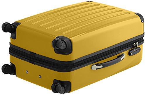 HAUPTSTADTKOFFER - Alex - 2er Koffer-Set Hartschale glänzend, TSA, 65 cm, 74 Liter, Graphit-Orange Braun-gelb