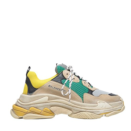 Balenciaga Men's andamp; Women's Vintage Triple S Trainers Fashion Sneakers Yellow (Size 40)