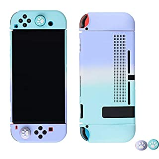 Elegant Protective Case for Nintendo Switch - Handheld Grip Protector Cover - Include Thumb Grip Caps