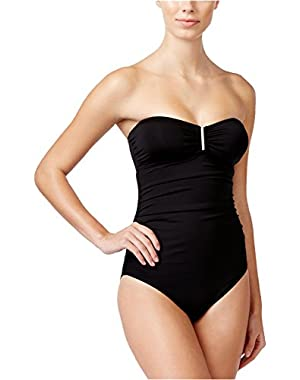 Calvin Klein Women's Convertible Bandeau One-Piece Swimsuit