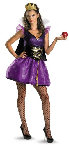 Disguise Disney Evil Queen Sassy Costume, Purple/Black, Large/12-14 (Adult Book Character Costumes)