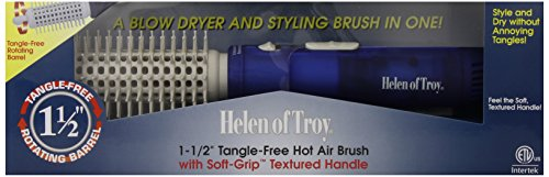 Helen of Troy 1573 Tangle Free Hot Air Brush, White, 1 1/2 I