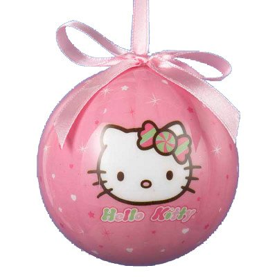80MM HELLO KITTY DECOUPAGE BALL (Ball Decoupage)