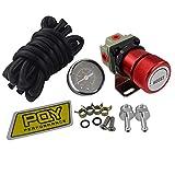ROWEQPP General Adjustable Manual Gauge Turbo Boost Controller 1-150 psi SR20DET red