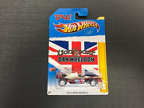DW-T Dan Wheldon Lionheart Hot Wheels 2012 diecast Indy car with Real Riders -