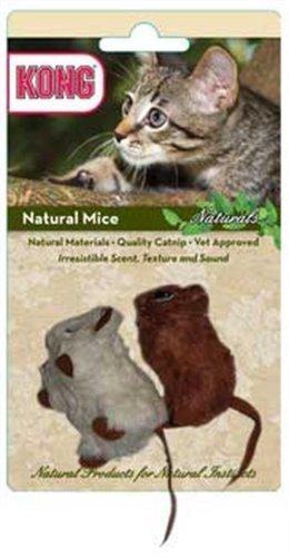 KONG Naturals Natural Mice Catnip Toy, Colors Vary, 2-Pack, My Pet Supplies