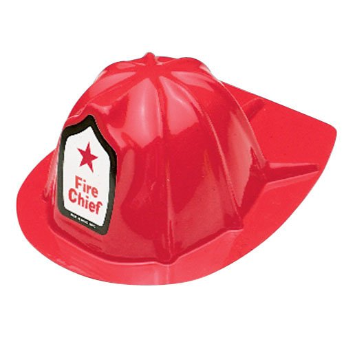 US TOY GROUP LLC -Kids Firefighter Helmets, Plastic, (1-Pack of (Kids Fire Helmet)