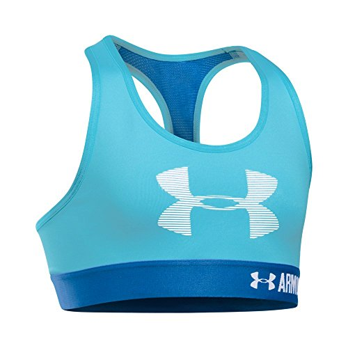 Under Armour Girls' Graphic Armour Bra, Venetian Blue, Youth (Youth Graphic)