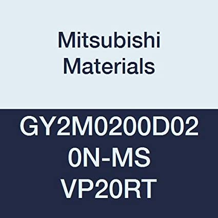 0.079 Grooving Width D Seat 0.008 Corner Radius Pack of 10 Mitsubishi Materials GY2G0200D020N-MF VP20RT GY Series Carbide Grooving Insert for Multifunctional and Finishing 2 Teeth