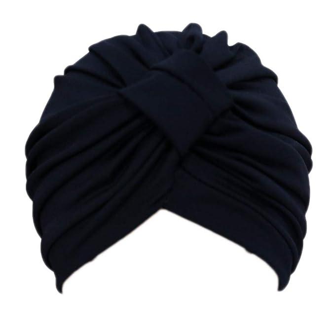 Mujer Beanie Hat Gorra de Dormir Suave Turban Head Wrap Chemo Cap ...
