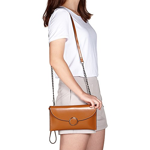 Evening Leather nbsp;Women��s CHITUMA Genuine Brown Bag Handbag Luxury New Party Clutch Classical Fashion Wallet wqwp0SZ