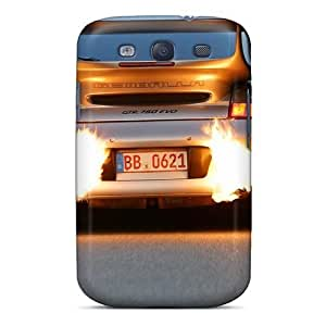 New Style Mialisabblake Exhaust Flames Premium Tpu Cover Case For Galaxy S3