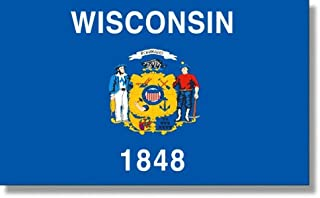 product image for 3x5' Wisconsin 2ply Polyester State Flag