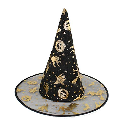 Baigoods Wholesale 1Pc Adult Womens Witch Hat For Halloween Costume Accessory Random -