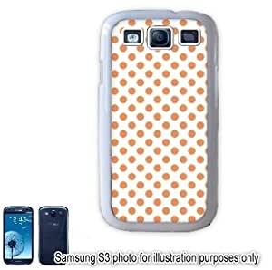 Orange Mini Polka Dots Pattern Samsung Galaxy S3 i9300 Case Cover Skin White
