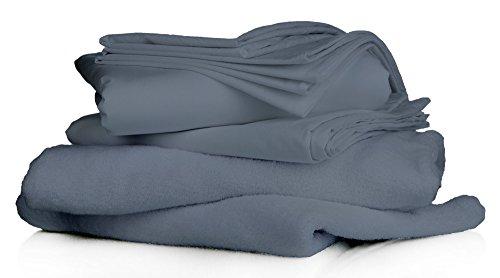 Organic Nido 800TC Ultra-Soft, luxury, super fine, 100% Natural Cotton, 3 Piece (1Duvet Cover + 2 Pillow Shams) Organic Cotton Duvet Set with GOTS certified Solid (King/Cal-King, Elephant Grey)